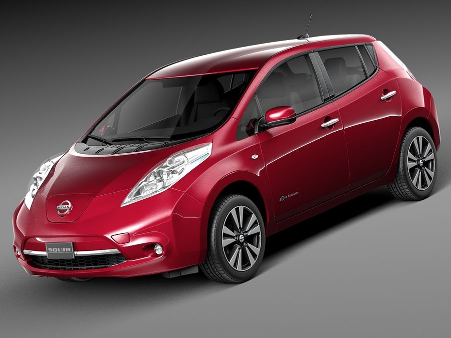 Nissan LEAF 2014 royalty-free 3d model - Preview no. 1