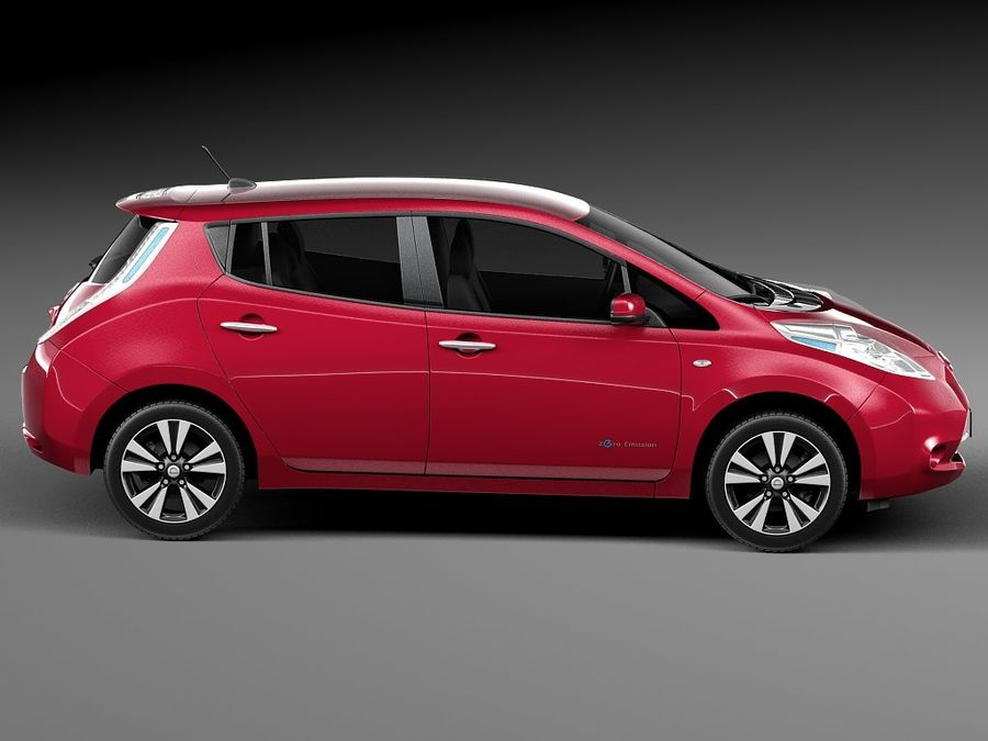 Nissan LEAF 2014 royalty-free modelo 3d - Preview no. 7