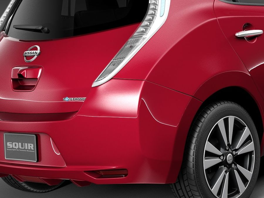 Nissan LEAF 2014 royalty-free modelo 3d - Preview no. 4