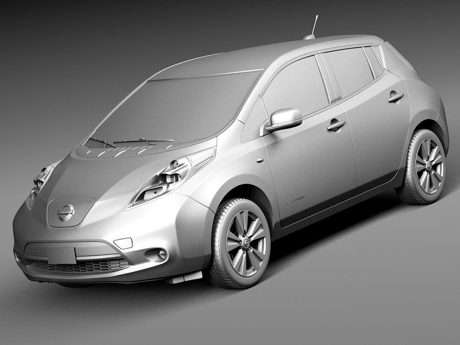 Nissan LEAF 2014 royalty-free 3d model - Preview no. 9