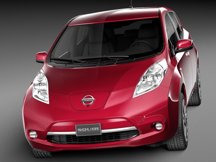 Nissan LEAF 2014 royalty-free modelo 3d - Preview no. 1