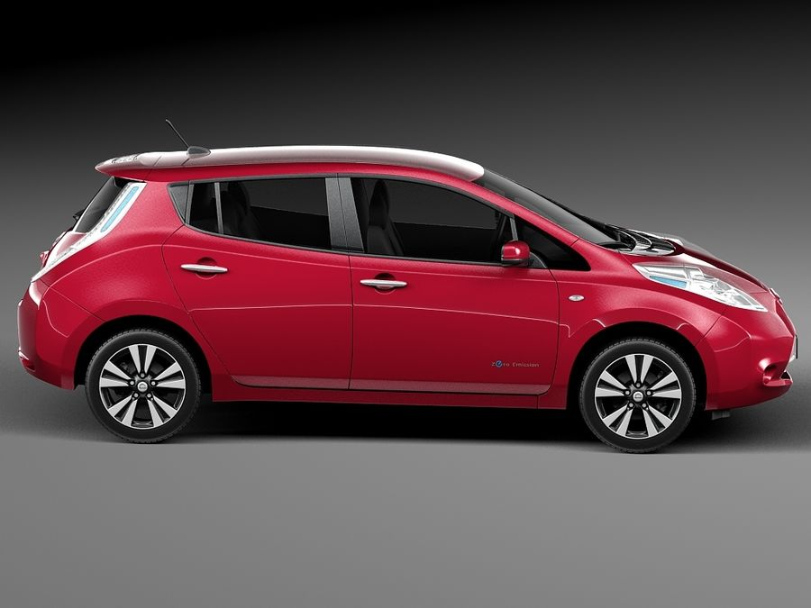 Nissan LEAF 2014 royalty-free 3d model - Preview no. 7