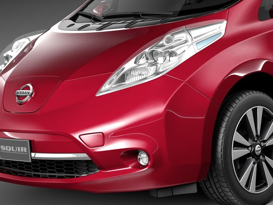 Nissan LEAF 2014 royalty-free modelo 3d - Preview no. 3