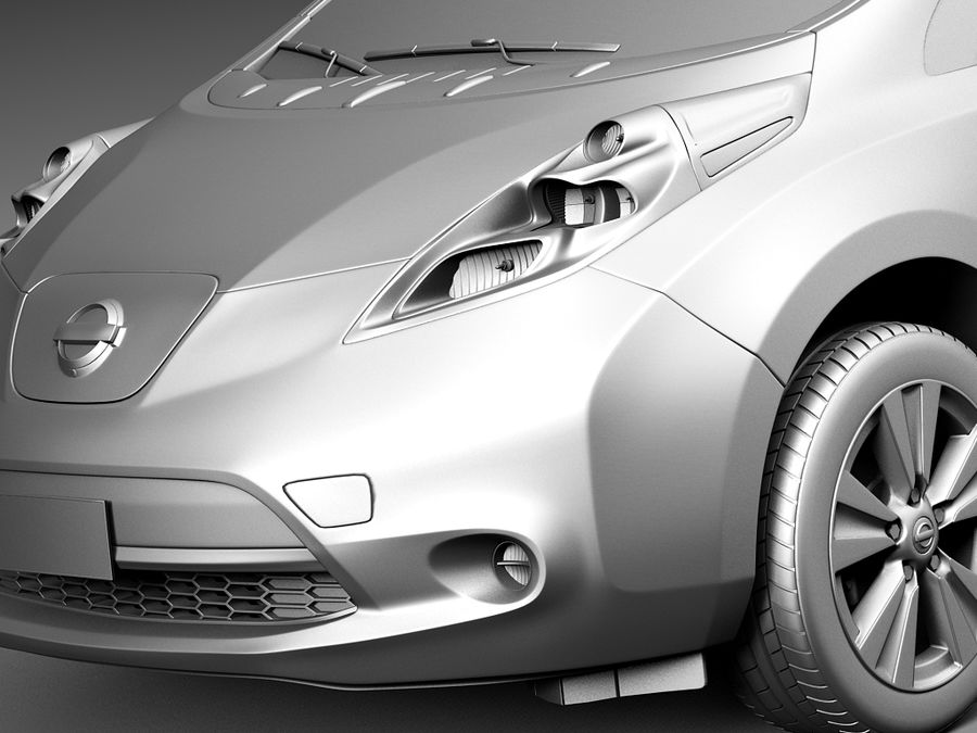 Nissan LEAF 2014 royalty-free 3d model - Preview no. 10