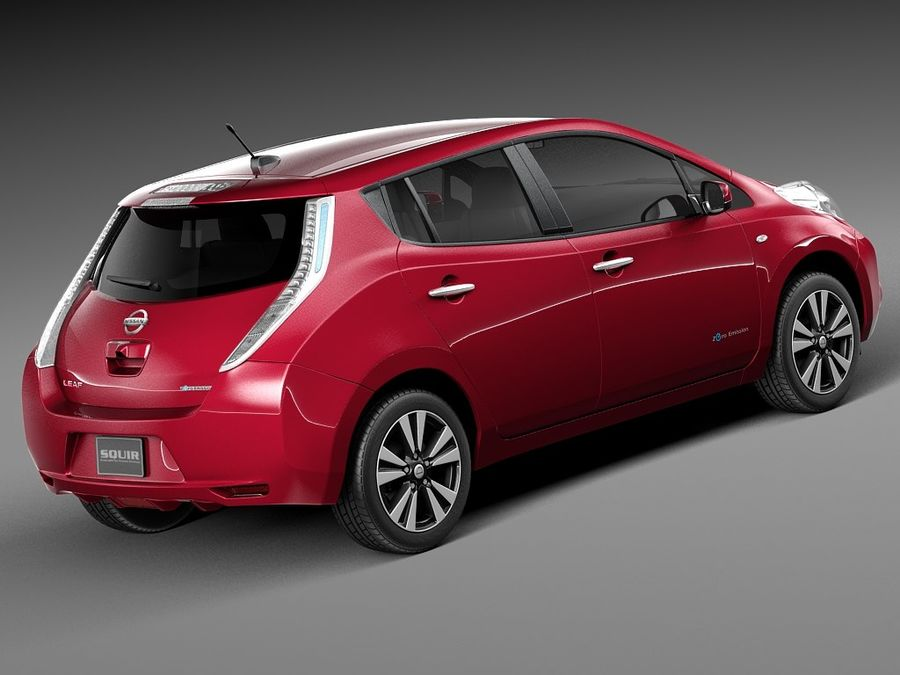 Nissan LEAF 2014 royalty-free modelo 3d - Preview no. 5