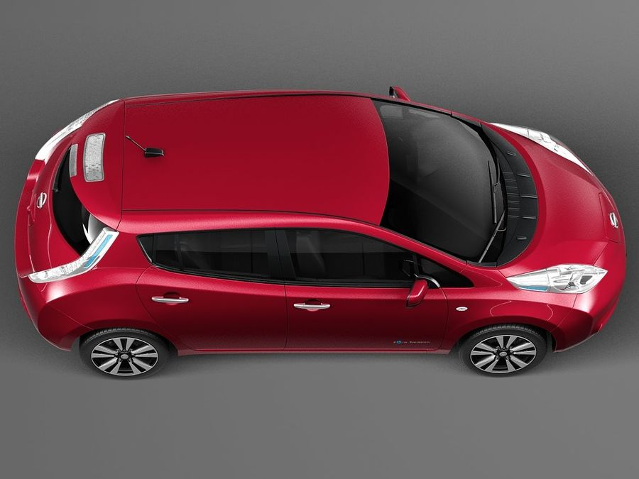 Nissan LEAF 2014 royalty-free modelo 3d - Preview no. 8