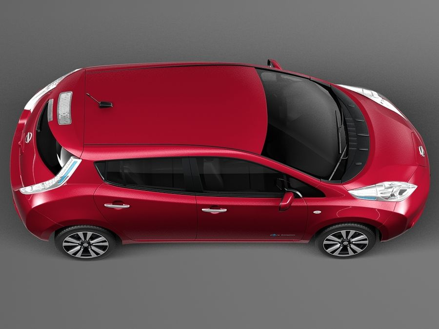 Nissan LEAF 2014 royalty-free 3d model - Preview no. 8