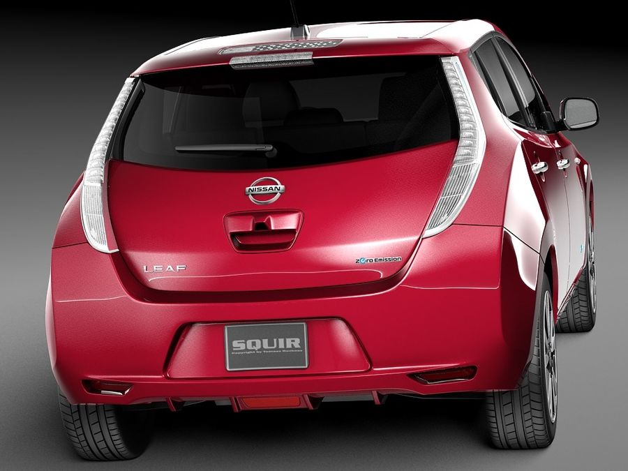 Nissan LEAF 2014 royalty-free modelo 3d - Preview no. 6