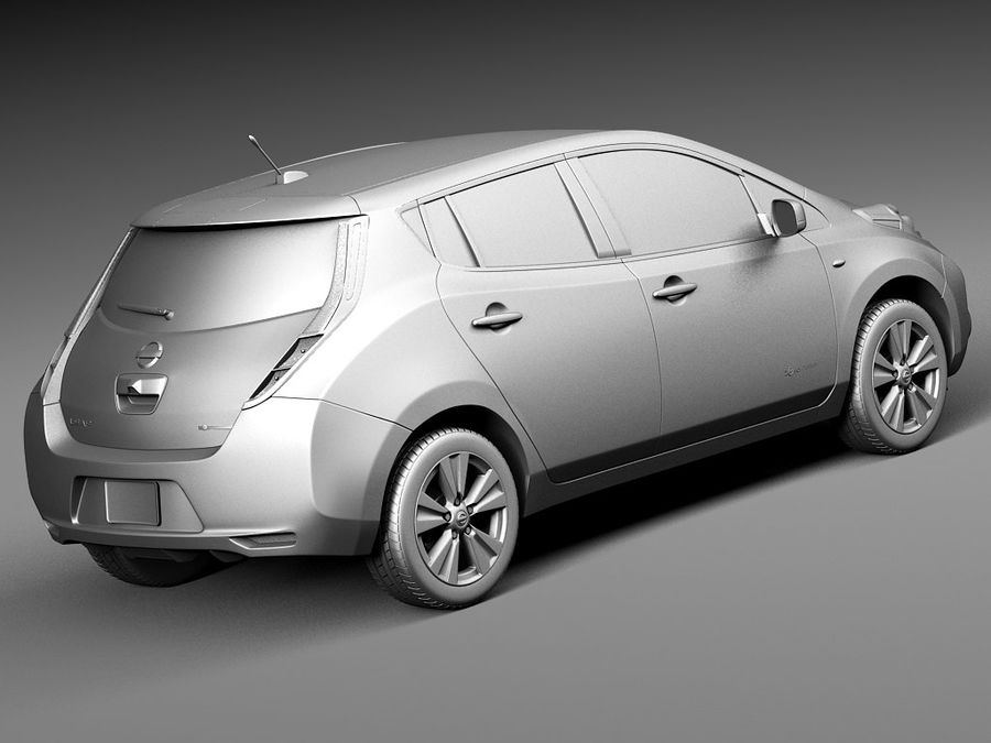 Nissan LEAF 2014 royalty-free modelo 3d - Preview no. 12