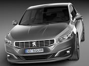 标致508轿车2015 3d model