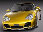 Porsche 911 Turbo Cabrio 996 2002 3d model