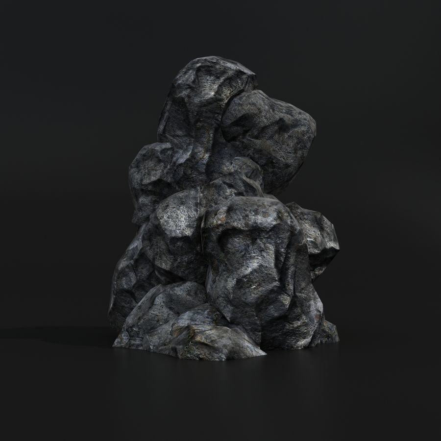Skały Lowpoly royalty-free 3d model - Preview no. 5
