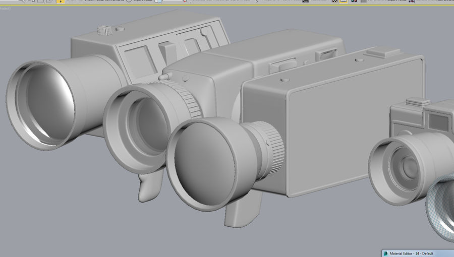 retro kamera royalty-free 3d model - Preview no. 10