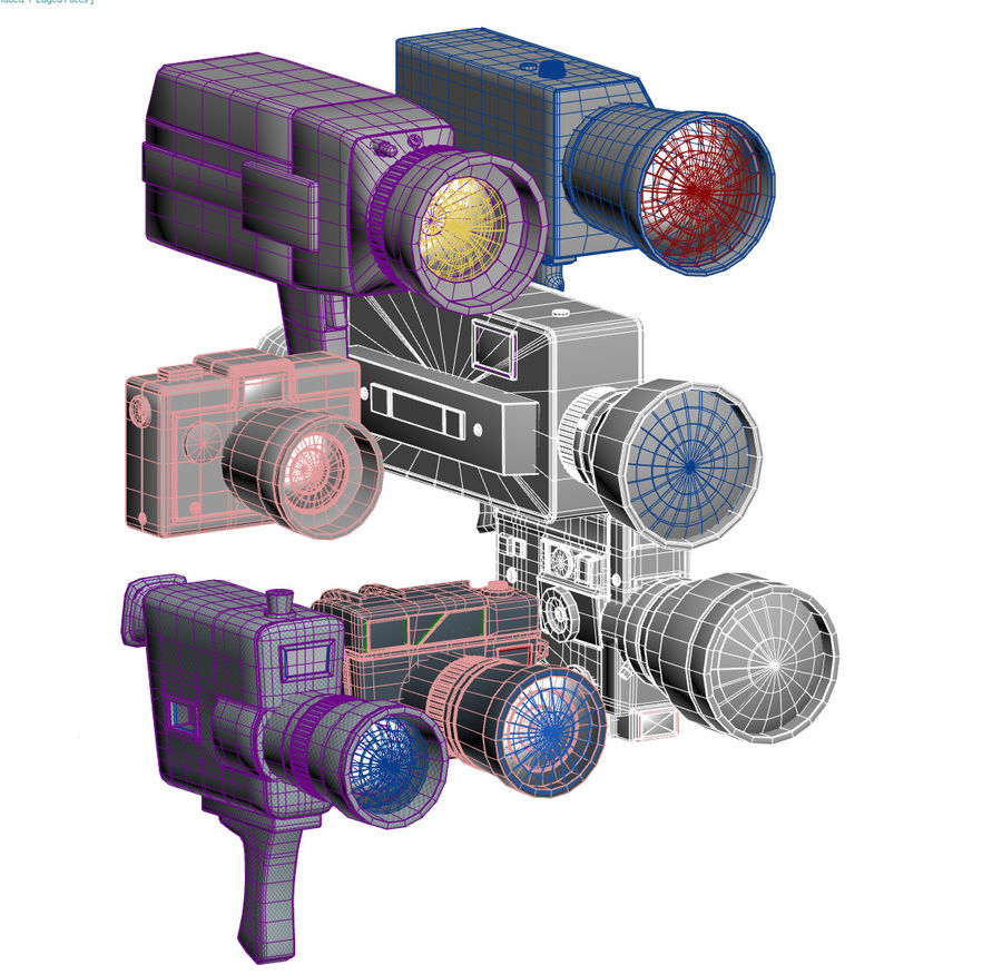 retro camera royalty-free 3d model - Preview no. 3
