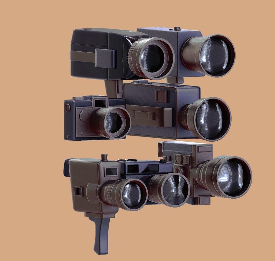 retro camera royalty-free 3d model - Preview no. 1