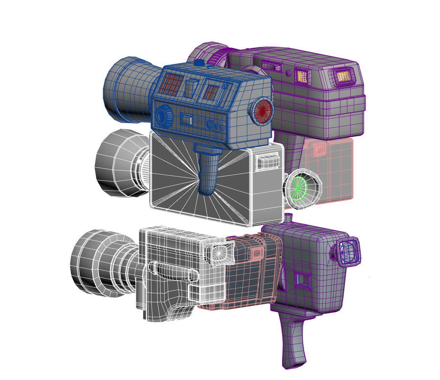 retro camera royalty-free 3d model - Preview no. 4