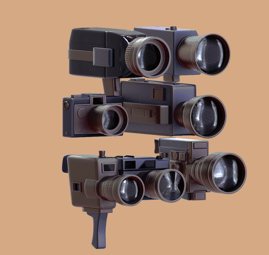 retro camera royalty-free 3d model - Preview no. 1