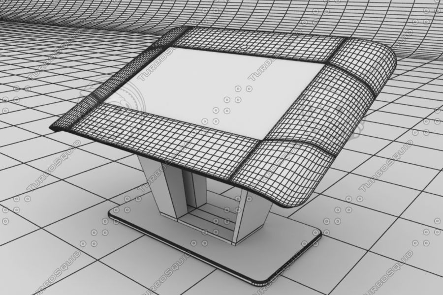Touch board royalty-free 3d model - Preview no. 8