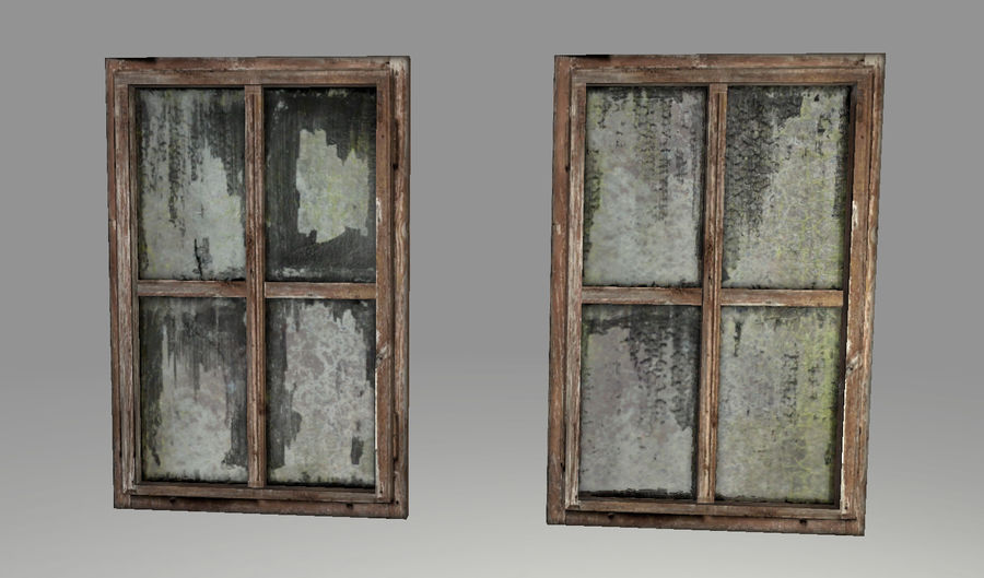 Vieux Windows royalty-free 3d model - Preview no. 5
