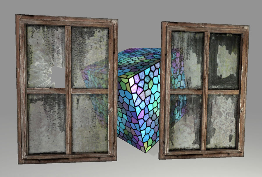 Vieux Windows royalty-free 3d model - Preview no. 4