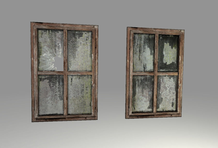 Old Windows royalty-free 3d model - Preview no. 2