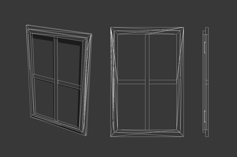 Vieux Windows royalty-free 3d model - Preview no. 7