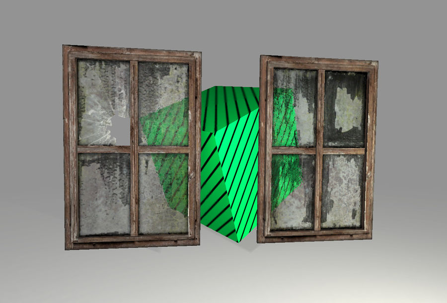 Vieux Windows royalty-free 3d model - Preview no. 3