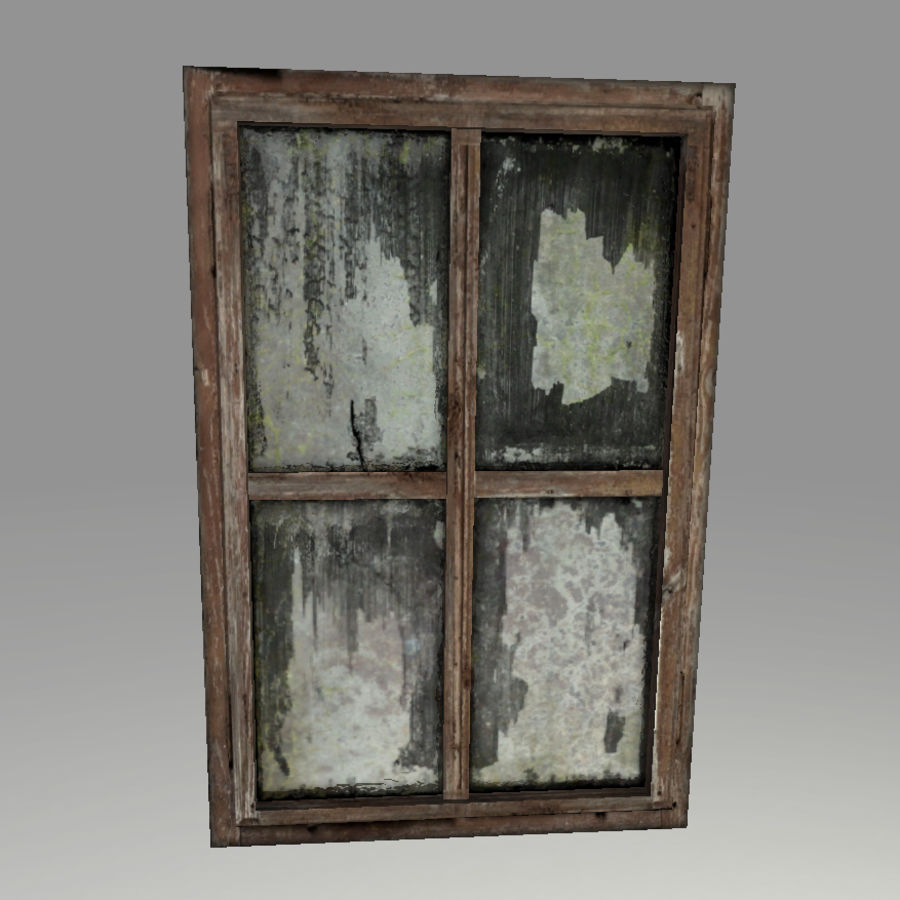 Vieux Windows royalty-free 3d model - Preview no. 1