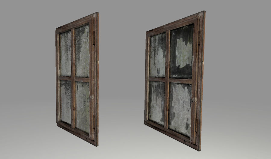 Vieux Windows royalty-free 3d model - Preview no. 6