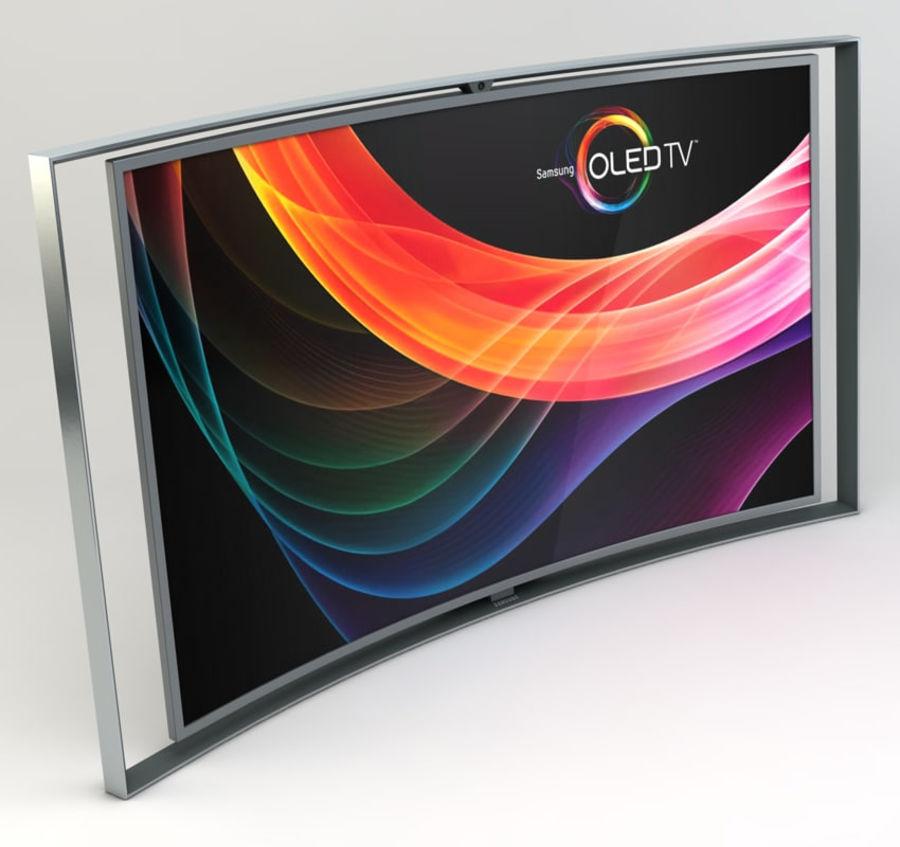 三星智能OLED电视 royalty-free 3d model - Preview no. 1