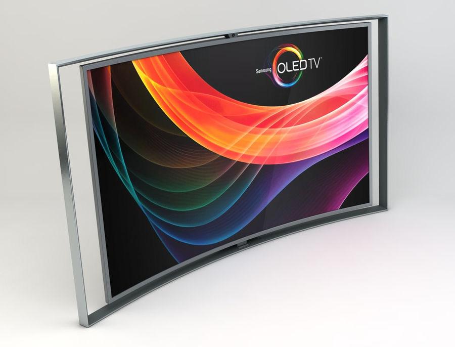 三星智能OLED电视 royalty-free 3d model - Preview no. 2