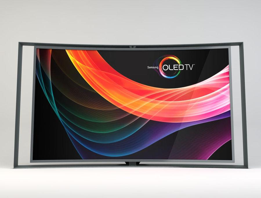 三星智能OLED电视 royalty-free 3d model - Preview no. 3