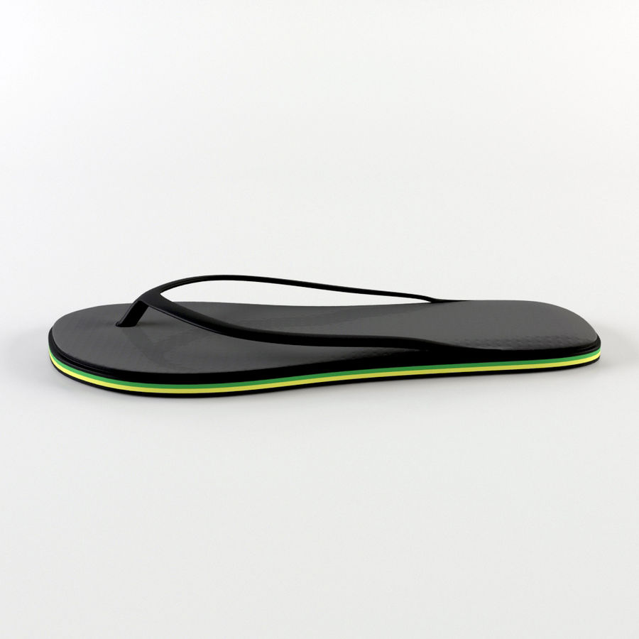 Slippers royalty-free 3d model - Preview no. 5