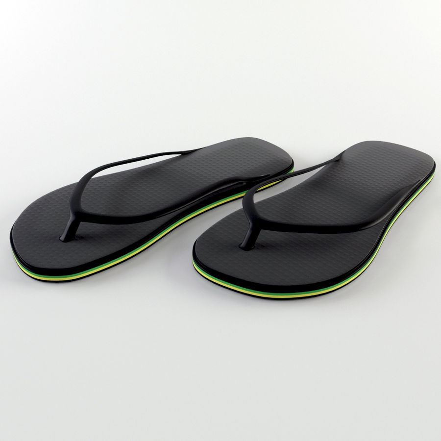 Slippers royalty-free 3d model - Preview no. 2