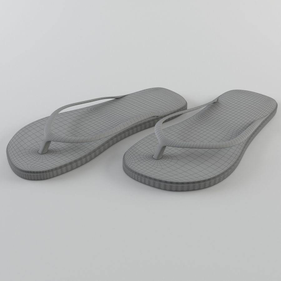 Slippers royalty-free 3d model - Preview no. 7