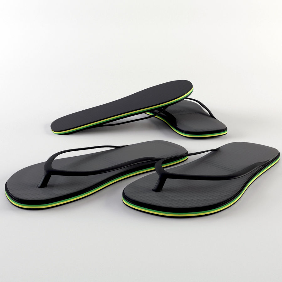 Slippers royalty-free 3d model - Preview no. 1