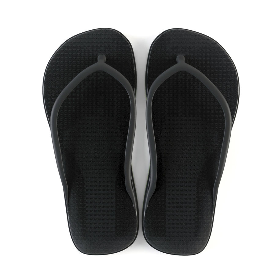 Slippers royalty-free 3d model - Preview no. 3