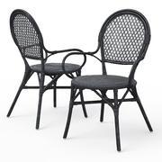ALMSTA柳条餐椅 3d model