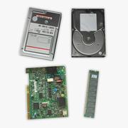 Części komputera 3d model