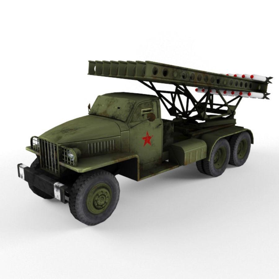 Katyusha BM 13 royalty-free 3d model - Preview no. 1