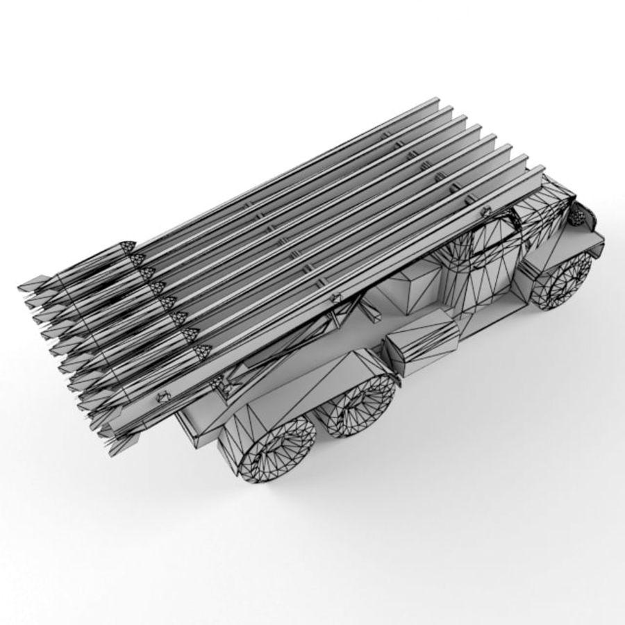 Katyusha BM 13 royalty-free 3d model - Preview no. 11