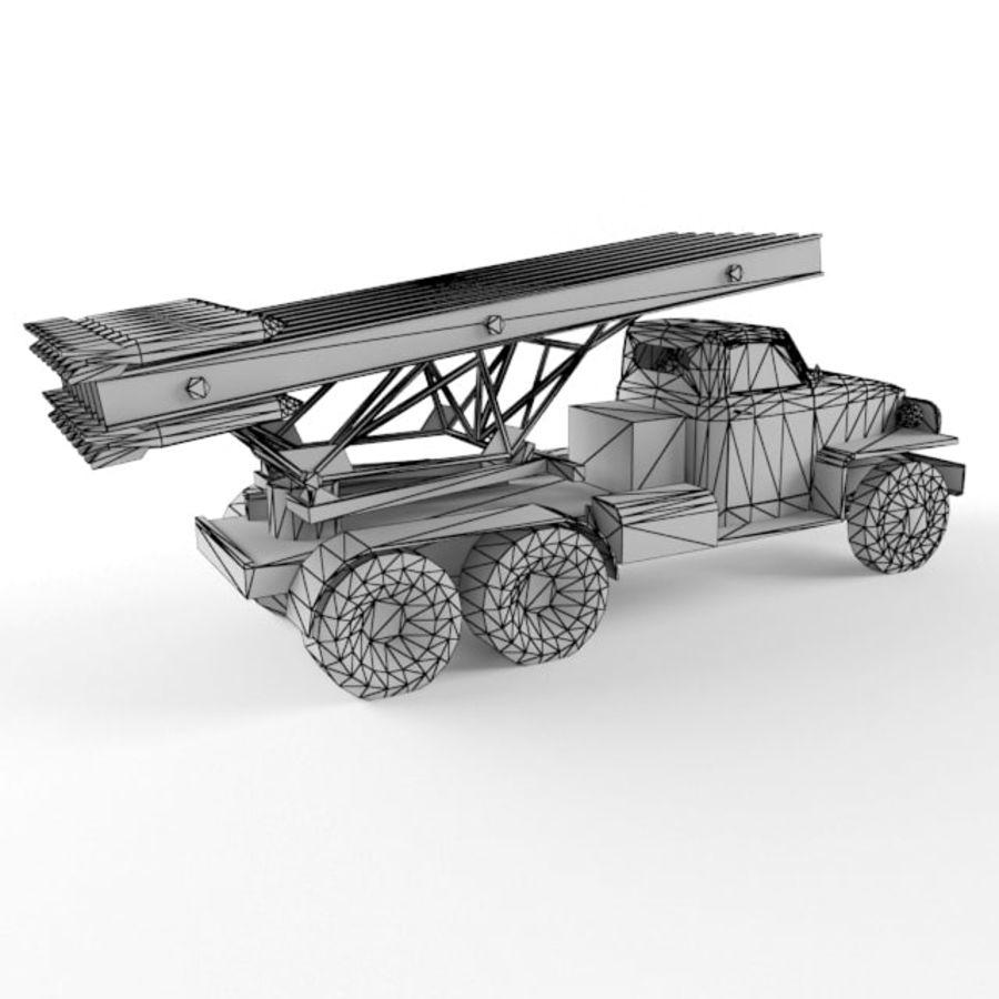 Katyusha BM 13 royalty-free 3d model - Preview no. 10