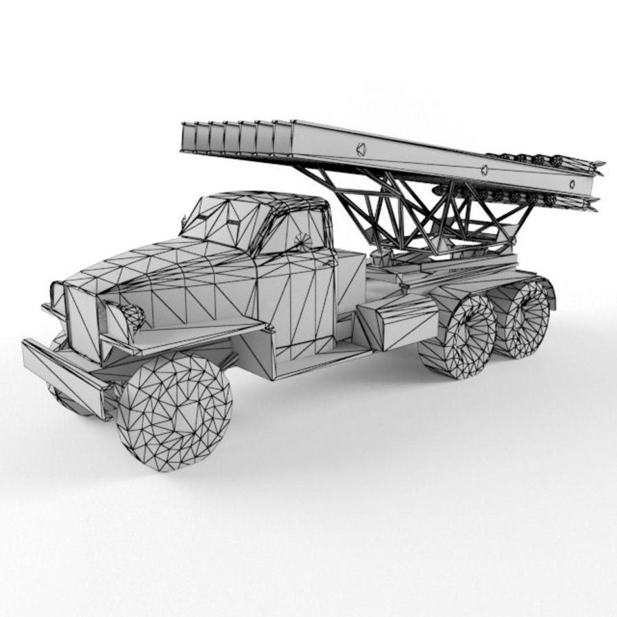 Katyusha BM 13 royalty-free 3d model - Preview no. 9