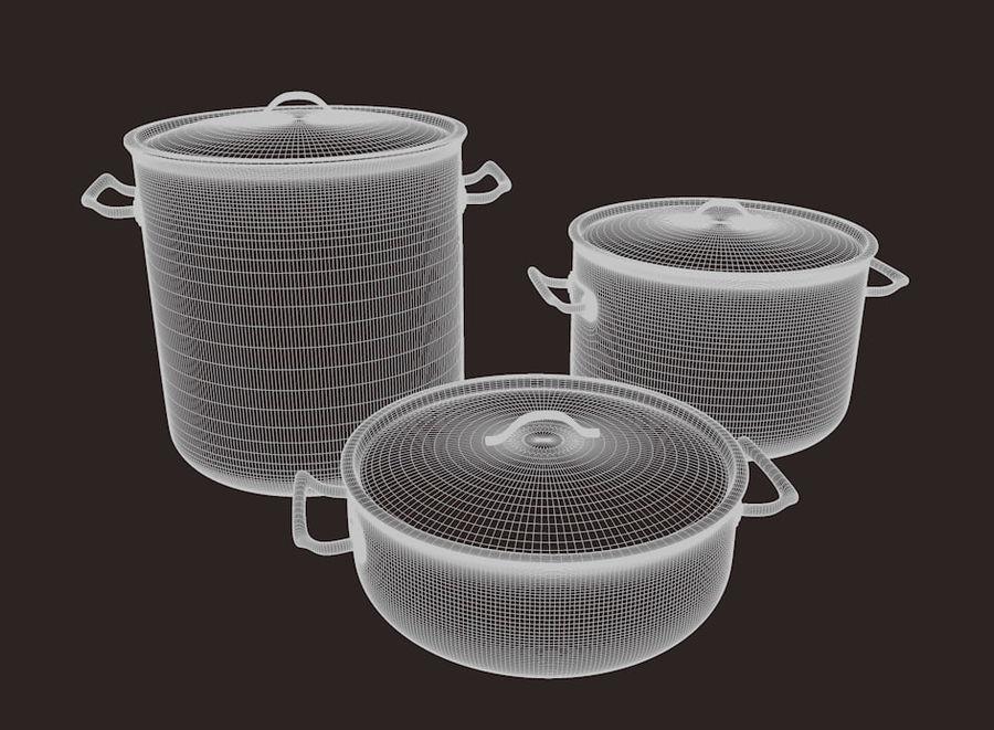 Pot Marmitte royalty-free 3d model - Preview no. 6