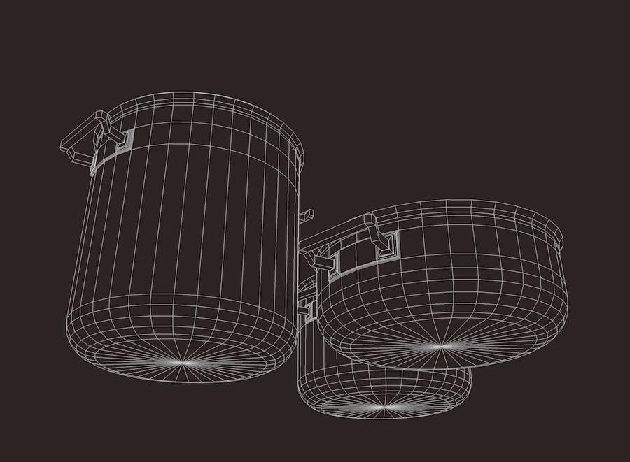 Pot Marmitte royalty-free 3d model - Preview no. 5