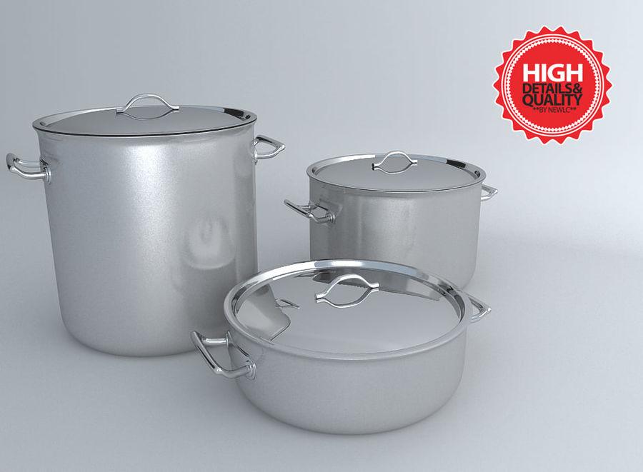 Pot Marmitte royalty-free 3d model - Preview no. 3