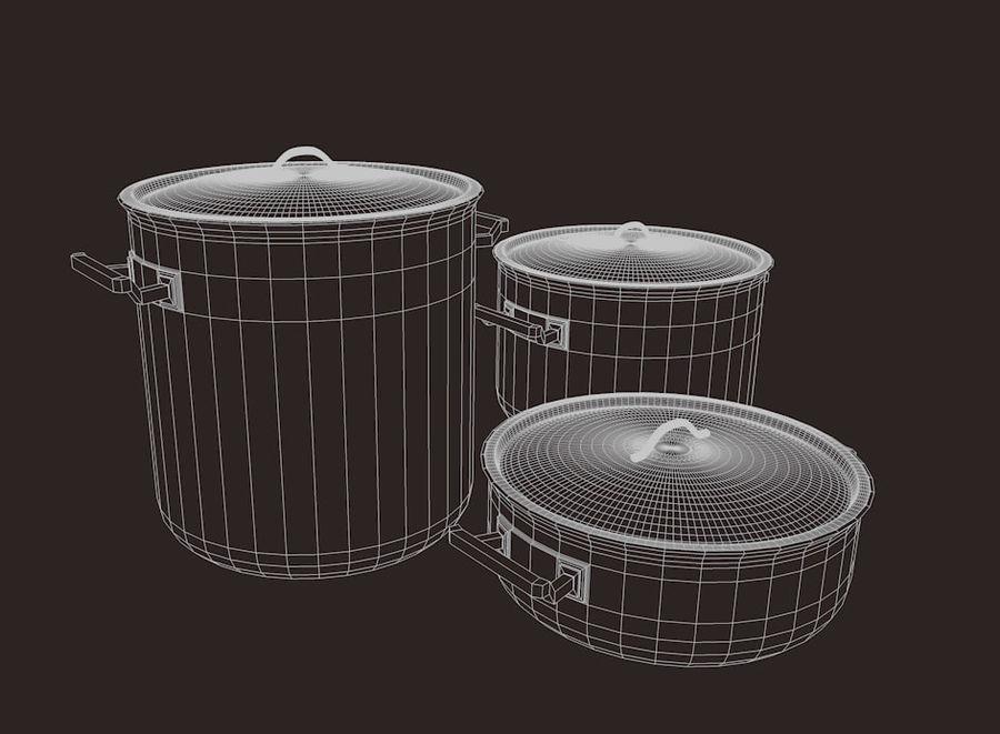Pot Marmitte royalty-free 3d model - Preview no. 4