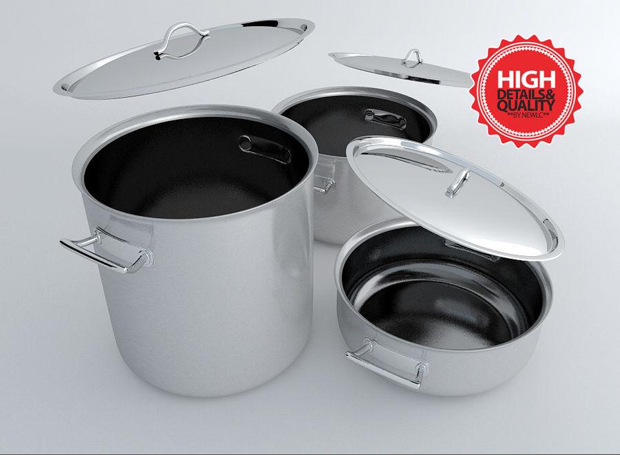Pot Marmitte royalty-free 3d model - Preview no. 1