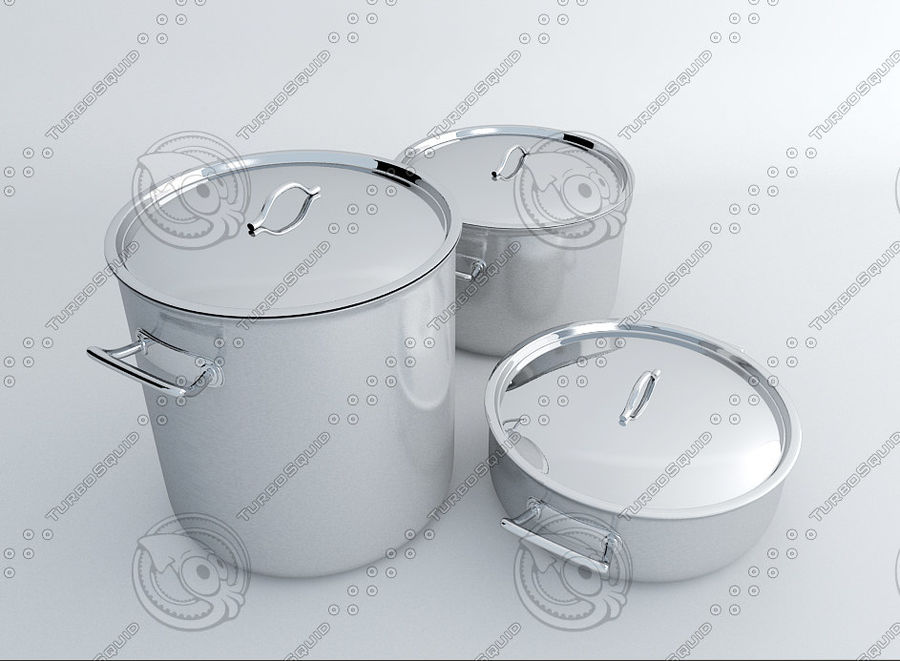Pot Marmitte royalty-free 3d model - Preview no. 2