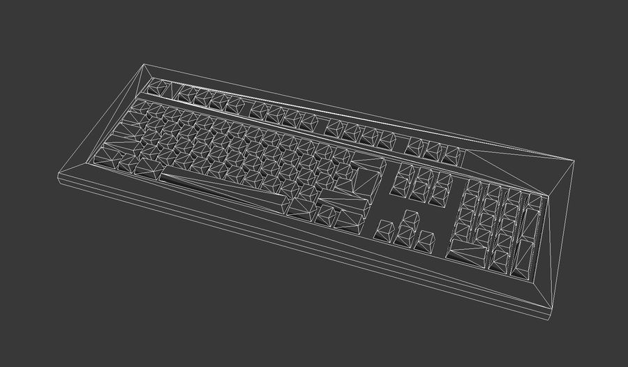 Keyboard royalty-free 3d model - Preview no. 10